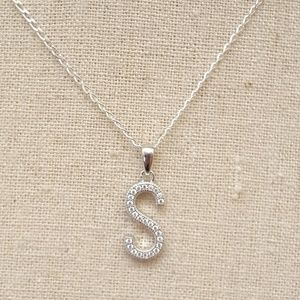 Jewelry - Sterling Silver Letter S Necklace